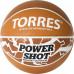 Мяч баскетбольный TORRES Power Shot B32087, р.7, 8 пан., нейлон.корд,бут.кам, оранжево-белый