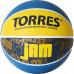 Мяч баскетбольный TORRES Jam B02043, р.3, резина, нейлон. корд, бут. кам., син-желт-голубой